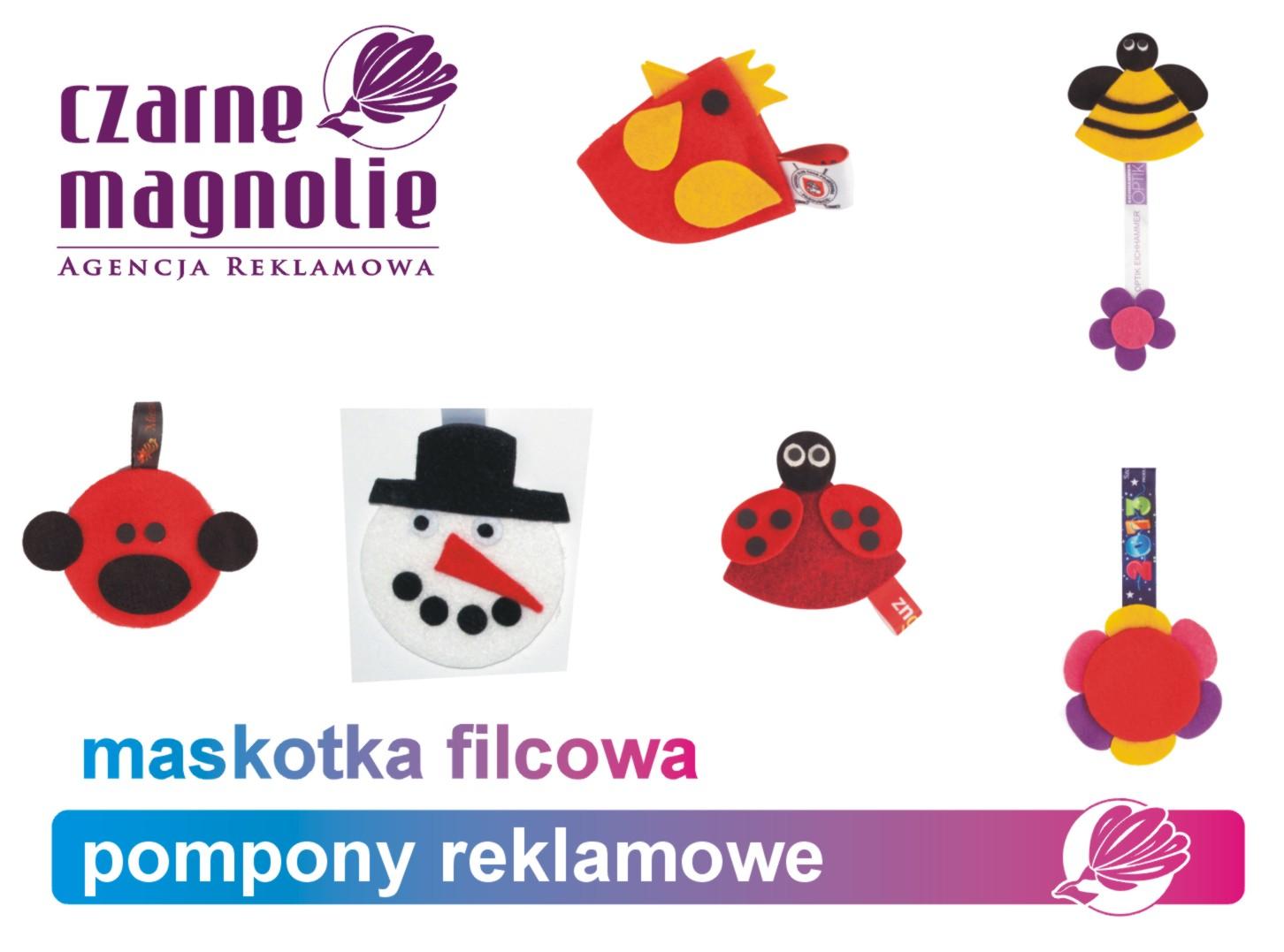 bb170f9286b1d Agencja reklamowa Czarne Magnolie poleca maskotkę filcową o różnorodnych  kształtach która może być broszką lub kotylionem. Istnieje możliwość  modyfikacji ...